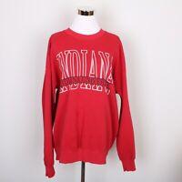 IU Indiana University Sweatshirt Sweater Women's XL Long Sleeve Red