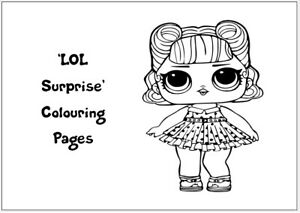 LOL SURPRISE Colouring Pages - 20 Sheets - Perfect for Rainy Days & Holidays!