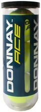 3x DONNAY ACE palle da Tennis Tennis Palline Giallo con Chiusura Sottovuoto ITF approved