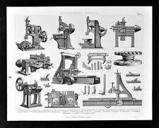1874 Bilder Technology Print - Industrial Woodworking Machines Planers - Factory