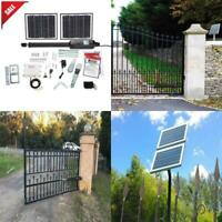 Solar Automatic Security Gate Opener for Single Swing Gate Up to 550lbs 16 Feet