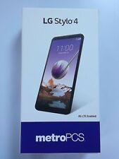 LG Stylo 4 Q710MS 32GB Black Metro Free Tempered Glass
