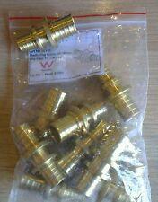 10  Pex 1/2 x 3/4 brass reducers connector push crimp fittings  DIY plumbing