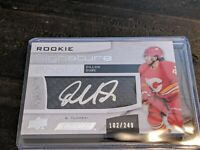 2018 Upper Deck Engrained Signature Shots 102/249 Dillon Dube Rookie Auto