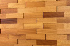 Holz Wandverkleidung wodewa 3D | Iroko | Holzwand Holzpaneele Wandgestaltung