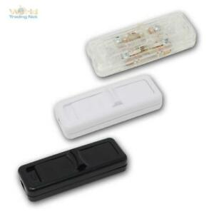 Schnurschalter 1/2-polig, 3 Farben, max. 250V/2,5A, Zwischenschalter geschraubt