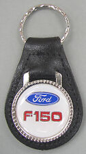 Vintage White Ford F-150 Black Leather USA Keyring Key Fob 1952 1953 1954 1955