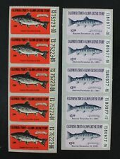CKStamps: US State Duck Stamps Collection California (2) Mint NH Fish Stamps