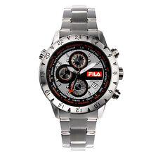 FILA Chronograph 38-007-002 Uhr Herren Armbanduhr Sport Uhren Silber Schwarz