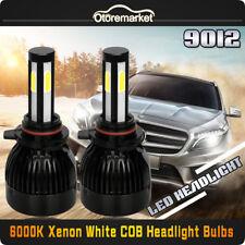 2x9012 HIR2 4 Sides CREE COB LED Headlight Bulb Replace High Low Beam 80W 6000K