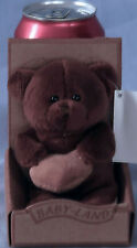 15cm Dark Brown Bear Holding Tan Heart NWT