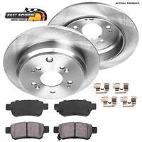 For 2005 2006 2007 2008 - 2010 Honda Odyssey Rear Brake Rotors & Ceramic Pads