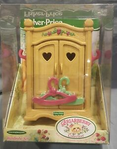 Briarberry Collection Wardrobe Furniture Set Bear Fisher Price MIB 1999 Cabinet