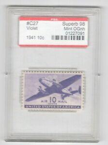 #C27 PSE Superb 98 MNH OG Encapsulated SMQ. $175 (JH 5/12/21) GP
