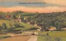 Shelburne, Ma Massachusetts Village View~Mohawk Trail Hand Colored Postcard