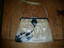 Vintage Purse, Tan And Black, 8X6 W. Strap