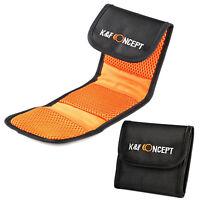 K&F Concept Lens 3 Pocket UV CPL ND Filter Bag Pouch Case Bag Rag for Camera