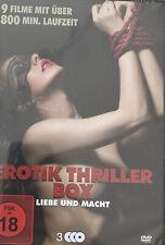 DVD Erotik Thriller Box - Liebe + Macht 9 Filme Erotik  Sex 3 Disc NEU