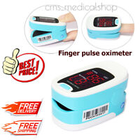 FDA/CE CMS50M Fingertrip oxímetro de pulso de oxígeno y SPO2 monitor * BLUE *