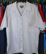 ROHAN FINELIGHT CREAM POLYESTER SHORT SLEEVED WALKING HIKING SHIRT LADIES LARGE