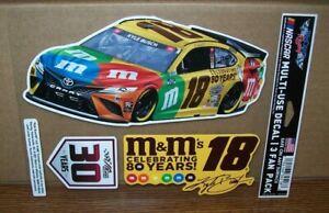 KYLE BUSCH #18 M&M'S 3 PACK 2021 NASCAR WINCRAFT 5X7 DECAL STICKER SHEET