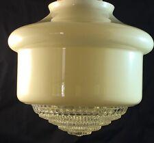 *** VINTAGE ART DECO DIFFUSER MILK GLASS LAMP SHADE #102 ***