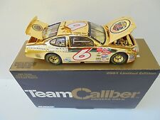 Mark Martin #6 JR's Garage 2001 TCOS GOLD Ford Taurus Nascar Diecast Collectible