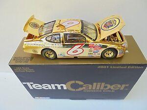 Mark Martin #6 JR's Garage 2001 TCOS GOLD Ford Taurus Nascar Diecast Collectible