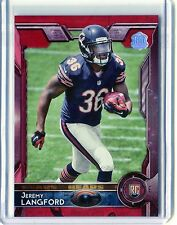 2015 Topps Jeremy Langford 60th Anniversary RED Rookie Card #471 in MINT 05/60