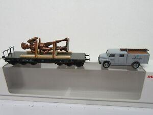 "HO - Marklin Museum 2007 Heavy Duty Flat Car w/ Del. Truck ""Statue DAVID"" - NIB"