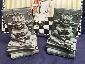 Gargoyle Tales Bookends x 2 Decorative And Heavy And Have Not Seen Any On eBay