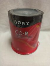 NEW Sony CD-R 80 Min CD Recordable 700 MB 100 CD Discs