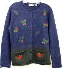 Croft & Barrow Womens S Blue Button Front Cardigan Sweater Long Sleeve Pockets
