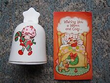 1983 STRAWBERRY SHORTCAKE CHRISTMAS BELL CANDYCANE & CARD AMERICAN GREETINGS