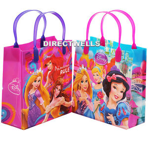 "Disney Princess Authentic Licensed Reusable Medium 8"" Party Favor Goodie 12 Bag"