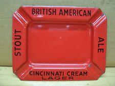 Vintage Stouts Ale Cincinnati Cream Lager British American Beer Bar Ash Tray