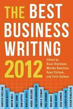The Best Business Writing 2012 (Columbia Journalism Review Books) by , Good Book