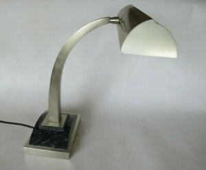 Vintage MCM House of Troy Desk Lamp Polished Chrome w Blk Base #P16-308-52 USA