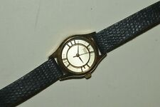 Vintage SEIKO Watch 8Y21-0040 Ladies Quartz Gold Color 23mm 8 In Strap Works
