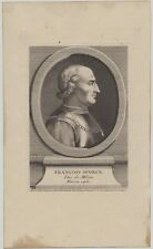 Fürst FRANCESCO I. Sforza Original Kupferstich um 1765 Italien Mailand Milano