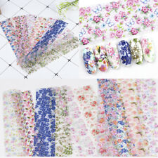10Pcs Nail Foil Stickers For Nails Flowers Art Film Floral Nail Decal Decoration