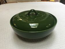 Homer Laughlin Dura-Print Charm House Forest Green Casserole! Looks Unused