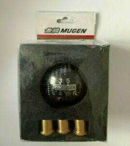 Mugen Carbon Fiber Gear Knob JDM Style Honda Toyota 6 Speed EP3,FN2,DC5 M12x1.25