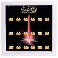 Lego Minifigures Display Case Picture Frame Star Wars Light Saber