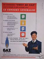 PUBLICITÉ GAZ DE FRANCE LE CONFORT TOUT AU GAZ CUISINE EAU CHAUDE CHAUFFAGE