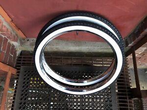 WHITEWALL Bicycle TIRES 26 x 2.125 BALLOON TIRES Schwinn Columbia Goodyear tread