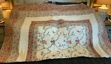 Patchwork Embroidery Quilt (twin) & Shams Blanket & Sheet Set (Value over $300)