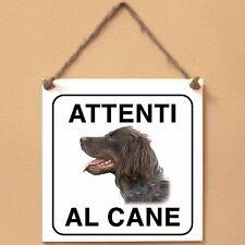 Epagneul Picard 1 Attenti al cane Targa cane cartello ceramic tiles