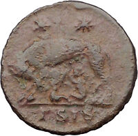 Constantine I The Great Ancient Roman Coin Romulus & Remus 'Mother' Wolf i31748