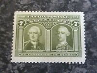 CANADA POSTAGE STAMP SG192 SEVEN CENTS OLIVE GREEN LIGHTLY-MOUNTED MINT